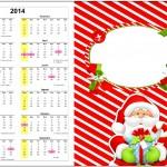 Convite Calendário 2014 Natal Vermelho e Verde 1