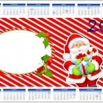 Convite Calendário 2014 Natal Vermelho e Verde