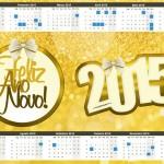 Convite Calendário 2015 Ano Novo 2015