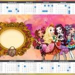 Convite Calendário 2015 Ever After High