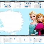 Convite Calendário 2015 Frozen Azul