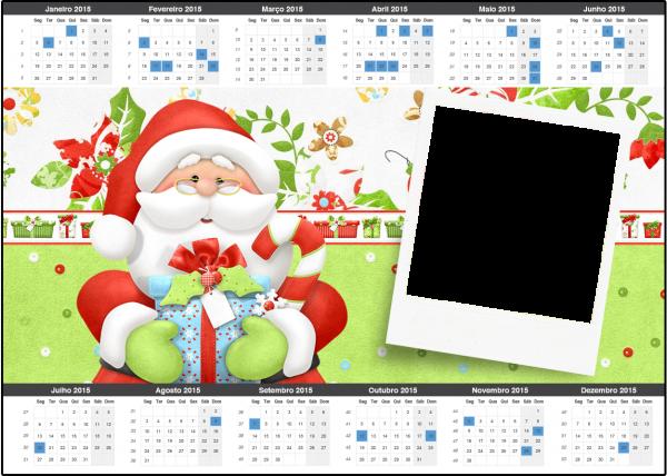 Convite Calendário 2015 Natal