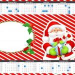 Convite Calendário 2015 Natal Vermelho e Verde