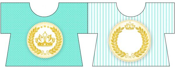 Convite Camisa Coroa de Príncipe Verde