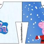 Convite Camisa Peppa Pig Natal