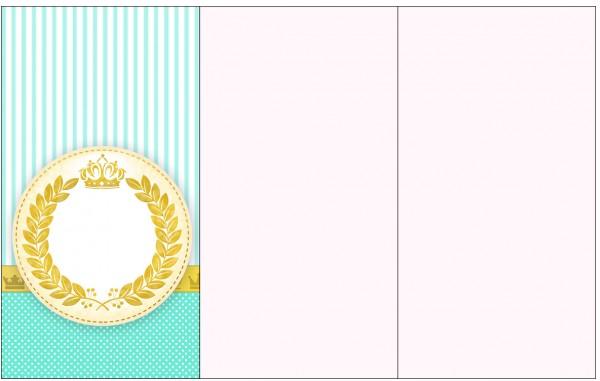 Convite, Cardápio ou Cronograma em Z Coroa de Príncipe Verde