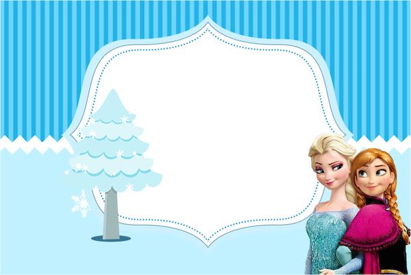 Convite, Cartão Frozen Azul