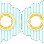 Convite Cupcake Coroa de Príncipe Verde