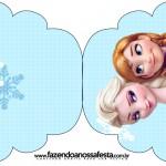 Convite Cupcake Frozen Azul