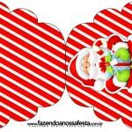Convite Cupcake Natal Vermelho e Verde
