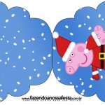 Convite Cupcakes Peppa Pig Natal