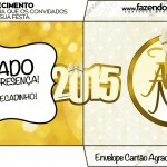 Convite Envelope Ano Novo 2015.