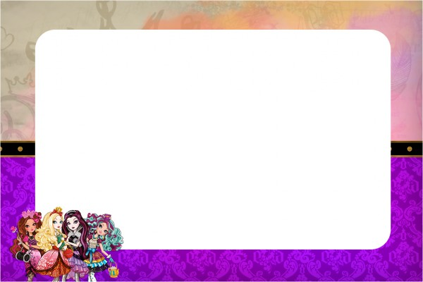 Convite Ever After High 1