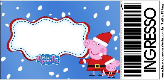 Convite Ingresso Peppa Pig Natal