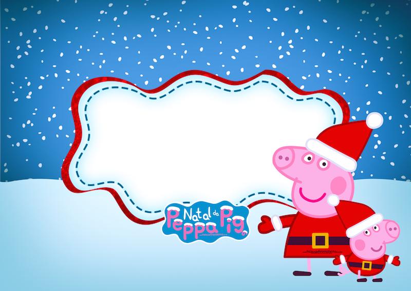 Convite Peppa Pig Natal