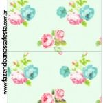 Convite Pirulito Floral Verde e Rosa