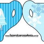 Convite Xícara Frozen Azul
