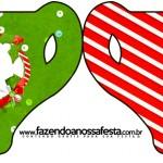 Convite Xícara Natal Vermelho e Verde