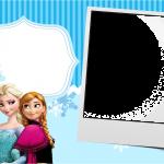 Convite com Foto Frozen Azul