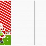 Convite,Cardápio ou Cronograma em Z Natal Vermelho e Verde