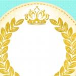 Convite,Cartão Coroa de Príncipe Verde