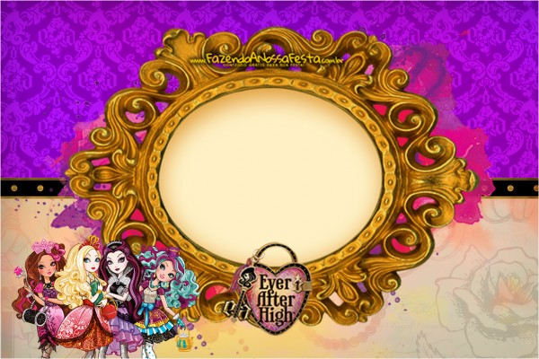 Convite,Cartão Ever After High