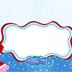 Convite,Cartão Peppa Pig Natal