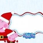 Convite,Moldura e Cartão Peppa Pig Natal