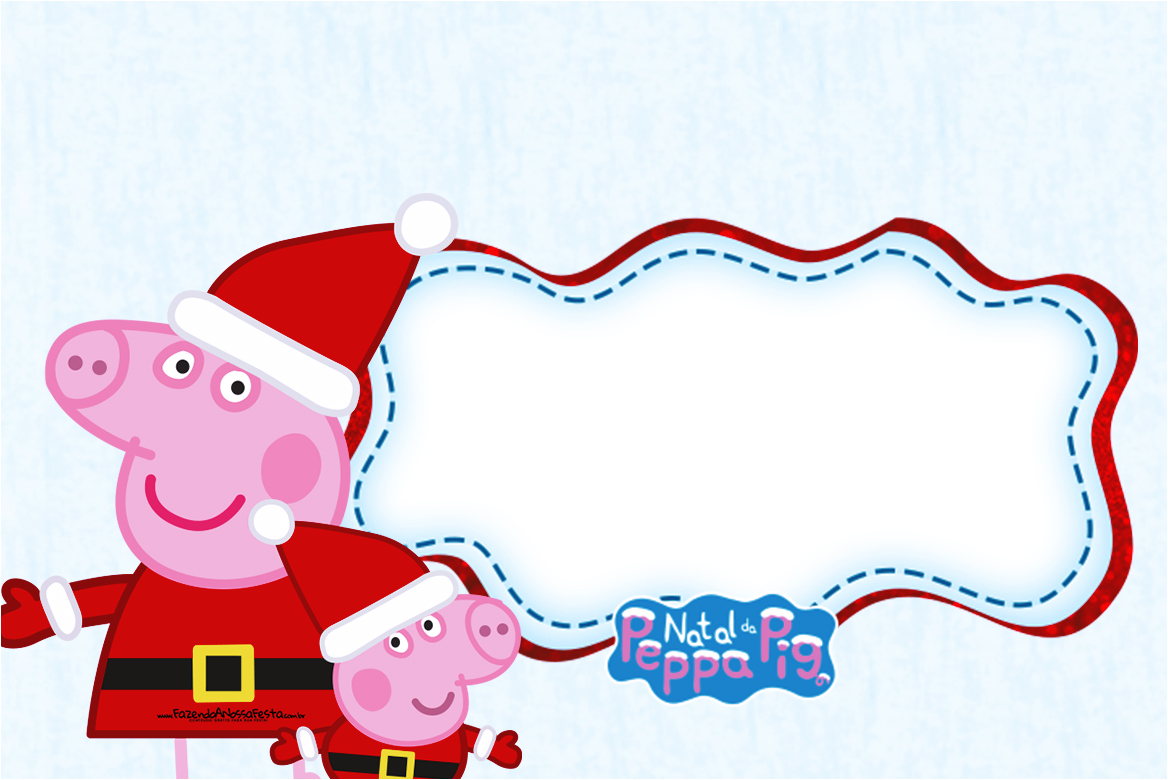 Convite Pirulito Peppa Pig Natal