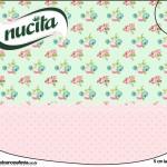 Creminho Nucita Floral Verde e Rosa