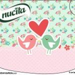 Creminho Nucita Passarinho Vintage Rosa e Verde