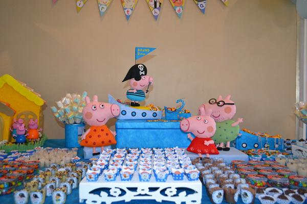 Decoração Festa George Pig Pirata