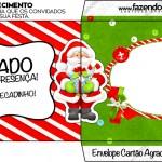 Envelope Agradecimento Natal Vermelho e Verde