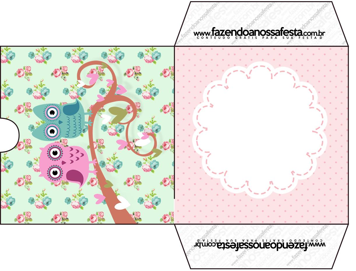 Conhecido Envelope CD DVD Corujinha Vintage Rosa e Verde - Fazendo a Nossa Festa DW09