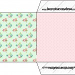 Envelope CD DVD Floral Verde e Rosa