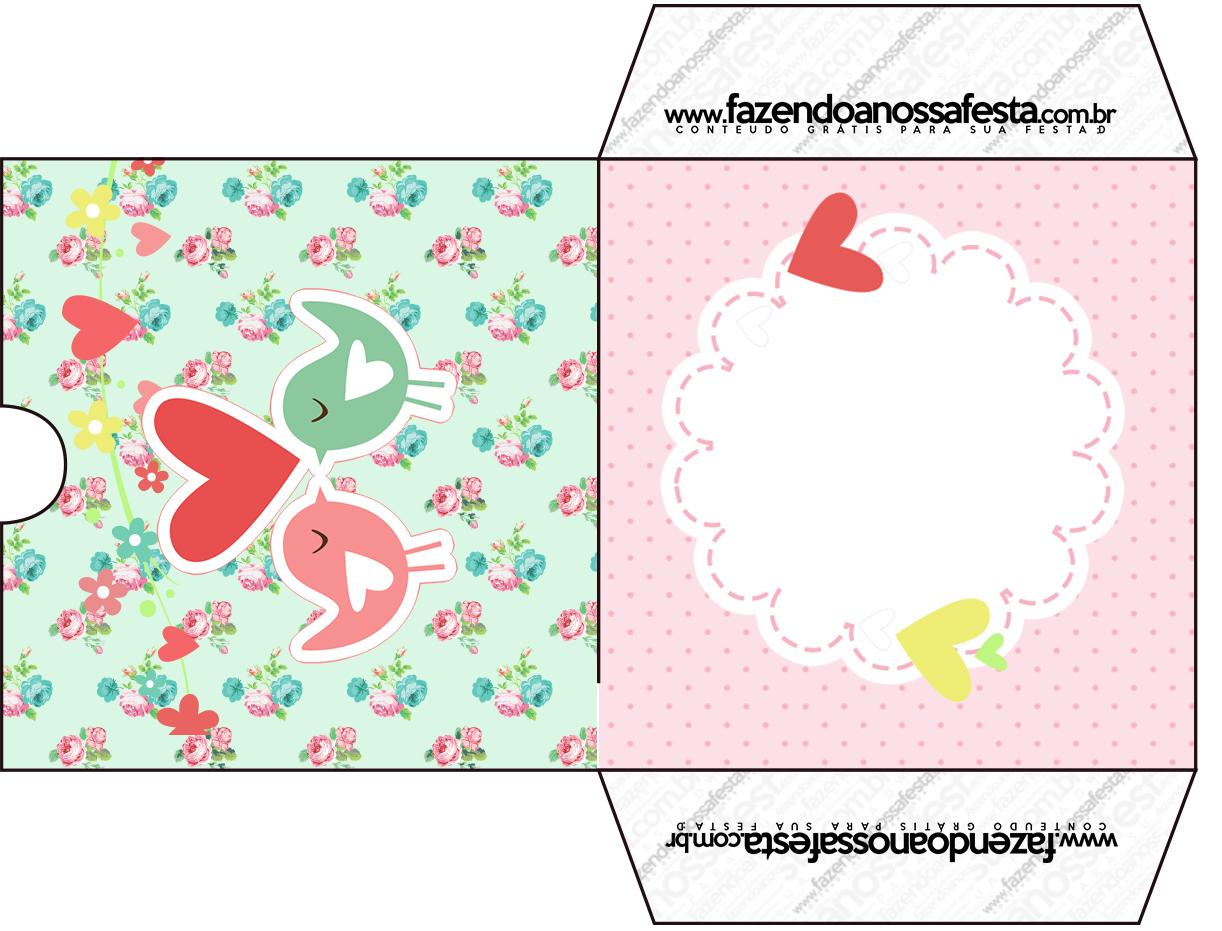 Muitas vezes Envelope CD DVD Passarinho Vintage Rosa e Verde - Fazendo a Nossa  QI37