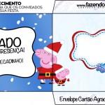 Envelope Cartão Agradecimento Peppa Pig Natal