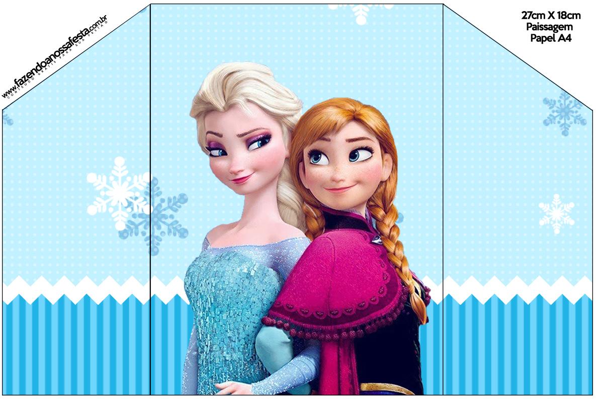 Top Frozen Azul - Kit Festa Infantil! JY17