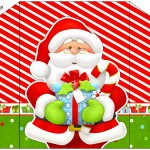 Envelope Convite Natal Vermelho e Verde