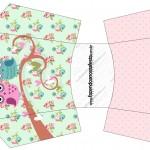 Envelope Fritas Corujinha Vintage Rosa e Verde