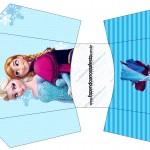 Envelope Fritas Frozen Azul