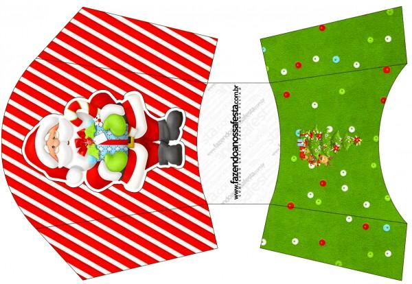 Envelope Fritas Natal Vermelho e Verde