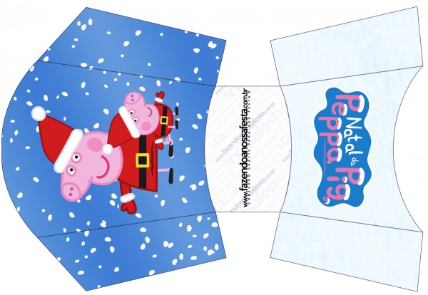 Envelope Fritas Peppa Pig Natal
