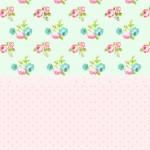 Convite Floral Verde e Rosa
