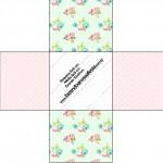 Forminhas Docinhos Floral Verde e Rosa