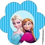 Flor Frozen Azul