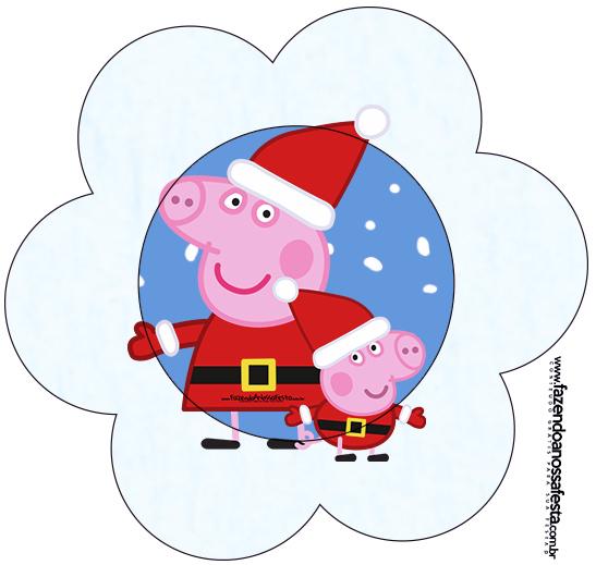 Flor Peppa Pig Natal