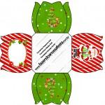Forminhas Docinhos Flor Natal Vermelho e Verde