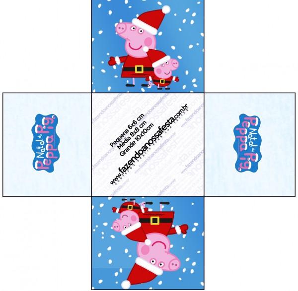Forminhas Docinhos Quadrada Peppa Pig Natal