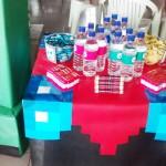 Rótulo Água Festa Minecraft